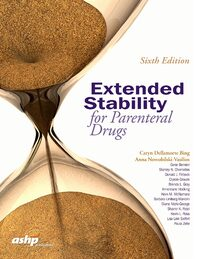 Cover Extended Stability for Parenteral Drugs