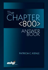Cover The Chapter <800> Answer Book