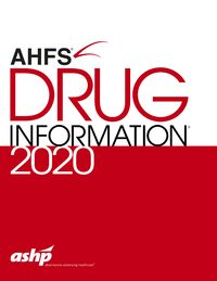 Cover AHFS Drug Information 2020